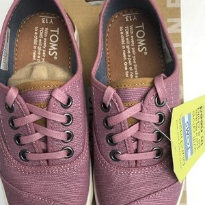 Toms Youth 13  Cordones Rose Heritage Canvas